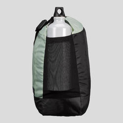 Schoudertas voor backpacken Travel 100 kaki 15 liter