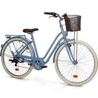 Low Frame City Bike Elops 520 - Denim Blue