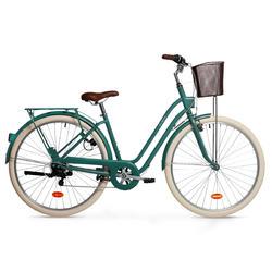 Stadsfiets dames Elops 520 Laag frame groen