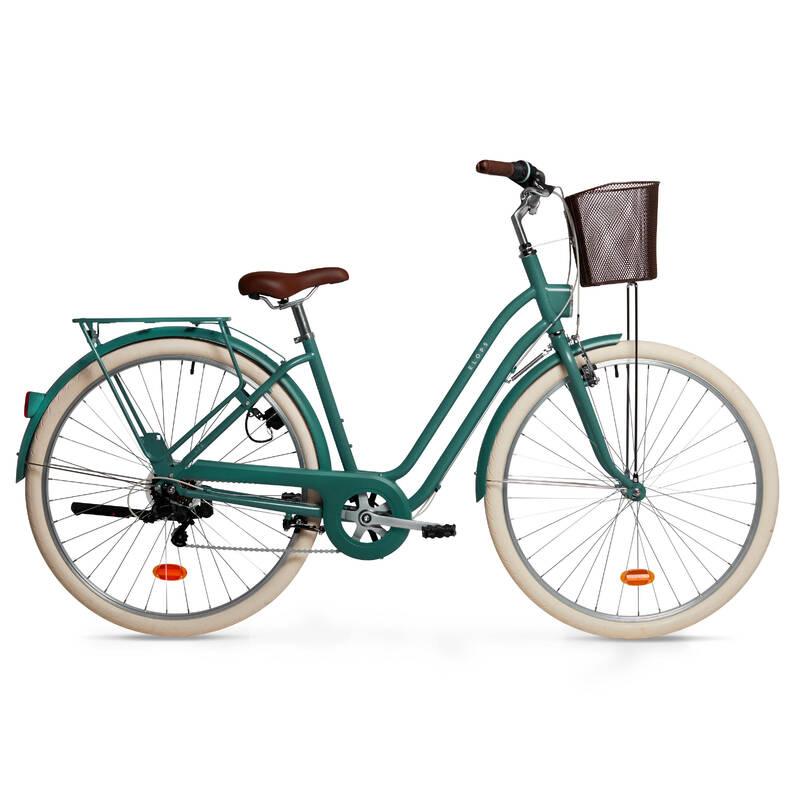 KLASICKÁ MĚSTSKÁ KOLA Cyklistika - ELOPS 520 NÍZKÝ RÁM ZELENÉ ELOPS - Jízdní kola