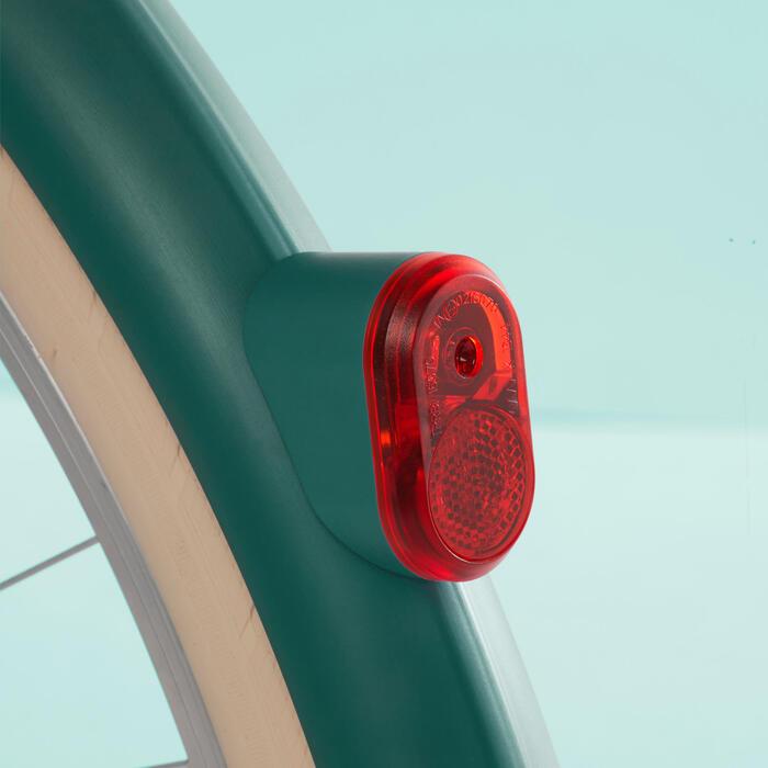 Stadsfiets Elops 520 laag frame blauw/turquoise