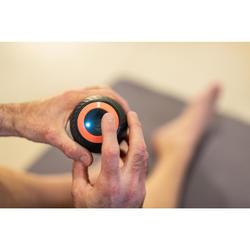 Bola de massagem DUPLA vibratória,forma amendoim vibratória,mini rolo vibratório