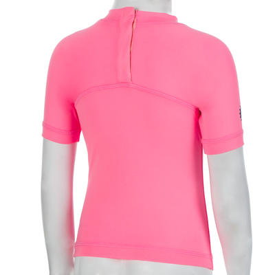 Baby UV-protection Short Sleeve T-Shirt - Pink