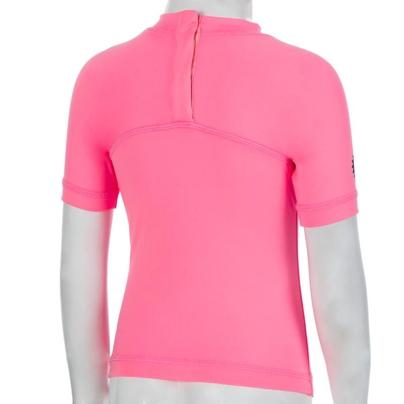 Baby UV Protection Short Sleeve T-Shirt - Pink