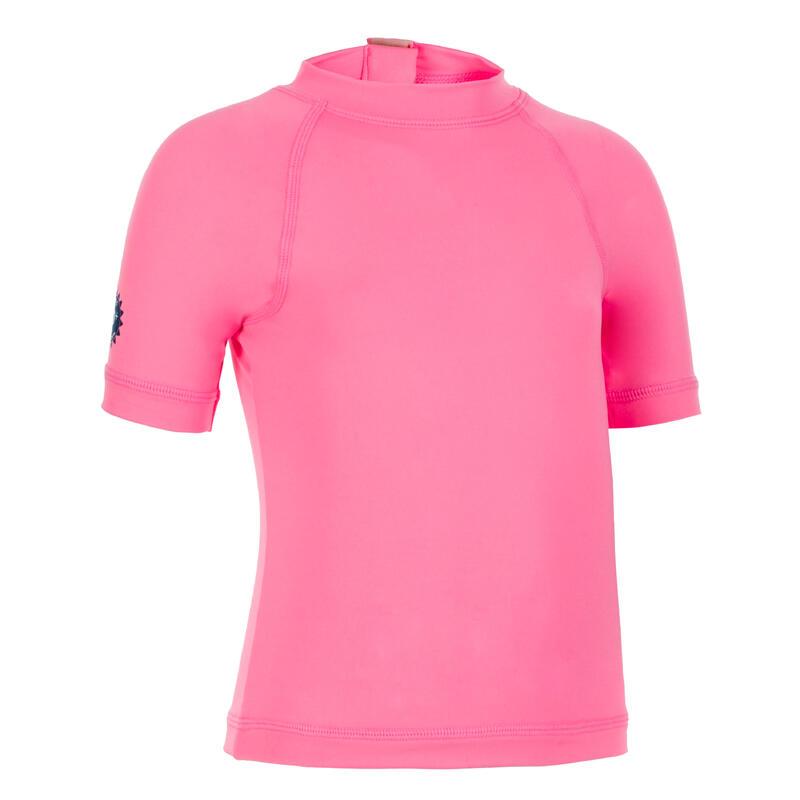 T-shirt anti UV bébé manches courtes rose