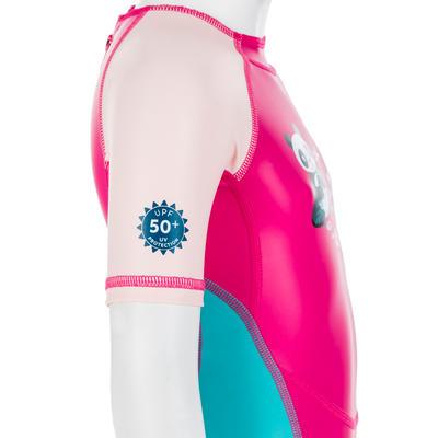 בגד ים Kloupi לתינוקות עם הגנה UV - הדפס פנדה ורוד