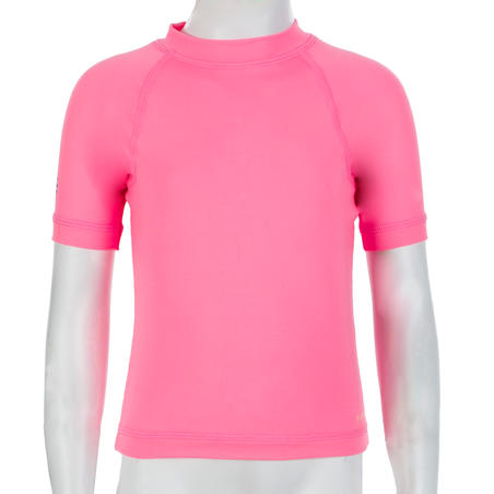 T-shirt Lengan Pendek Perlindungan UV Batita - Pink