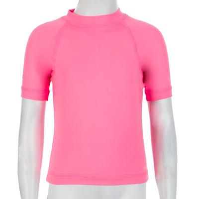 T shirt anti UV bébé manches courtes rose
