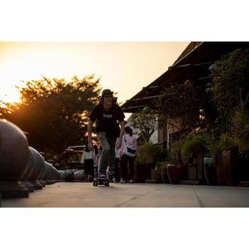 Adult Low-Top Skateboarding Longboarding Shoes - Burgundy/White