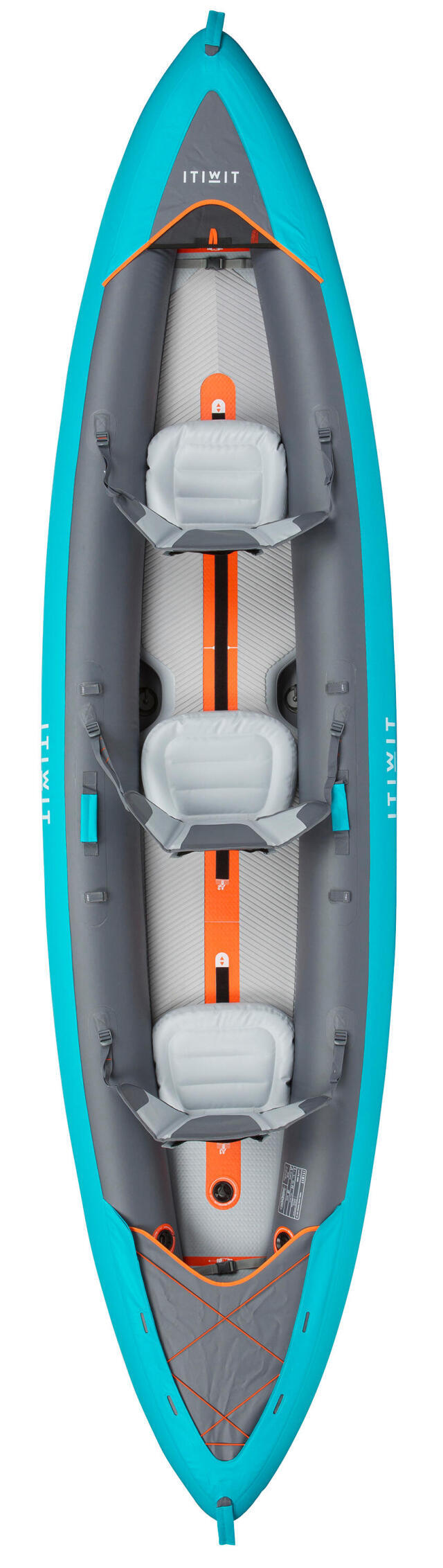 Itiwit Kayak Gonflable Fond Haute Pression Drop Stitch X100 3 Places Decathlonsav