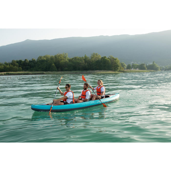 INFLATABLE 3-PERSON TOURING KAYAK X100+ HIGH-PRESSURE DROPSTITCH FLOOR