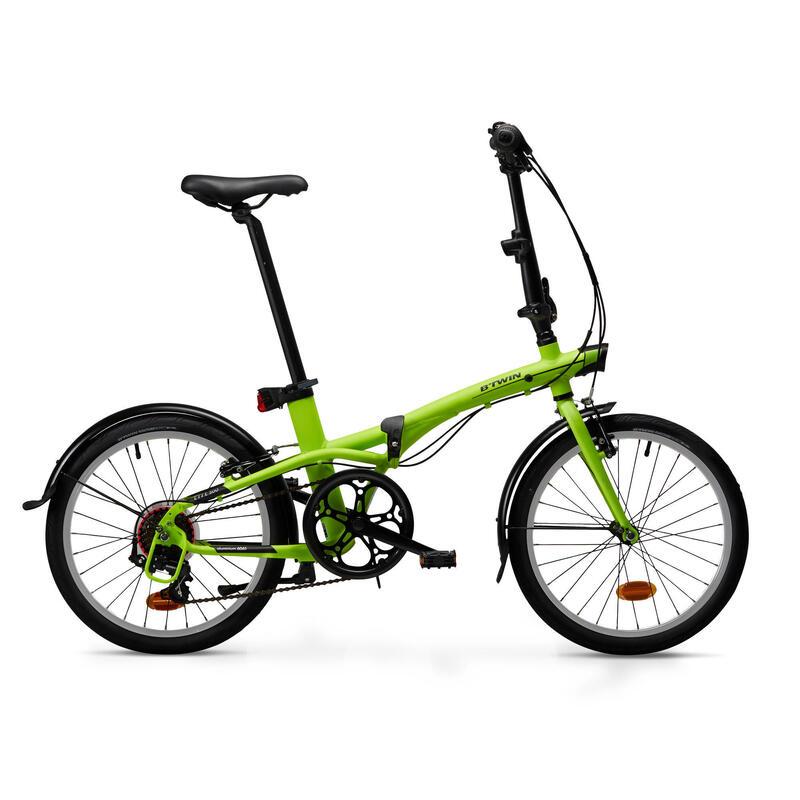 Folding Bike Tilt 500 - Neon Yellow