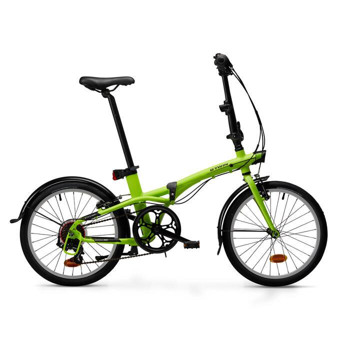 Bicicleta Plegable Tilt 500 Aluminio 7v Azul Btwin Decathlon