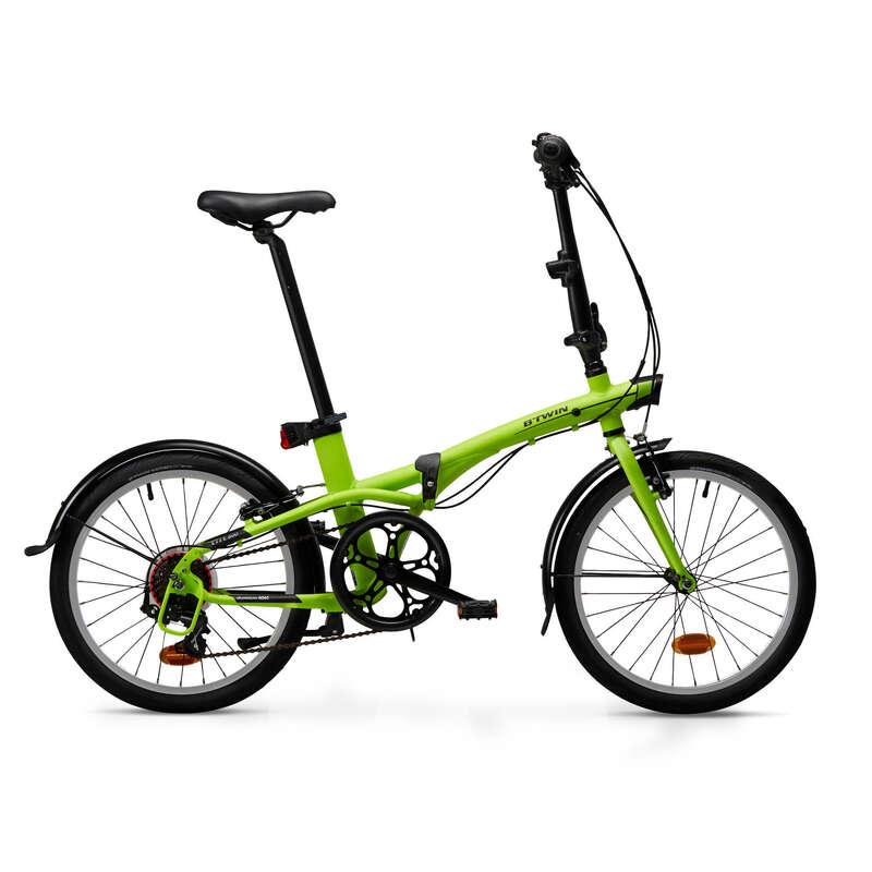 COMPACT / FOLDING BIKE Cycling - Folding Bike Tilt 500 - Yellow BTWIN - Bikes