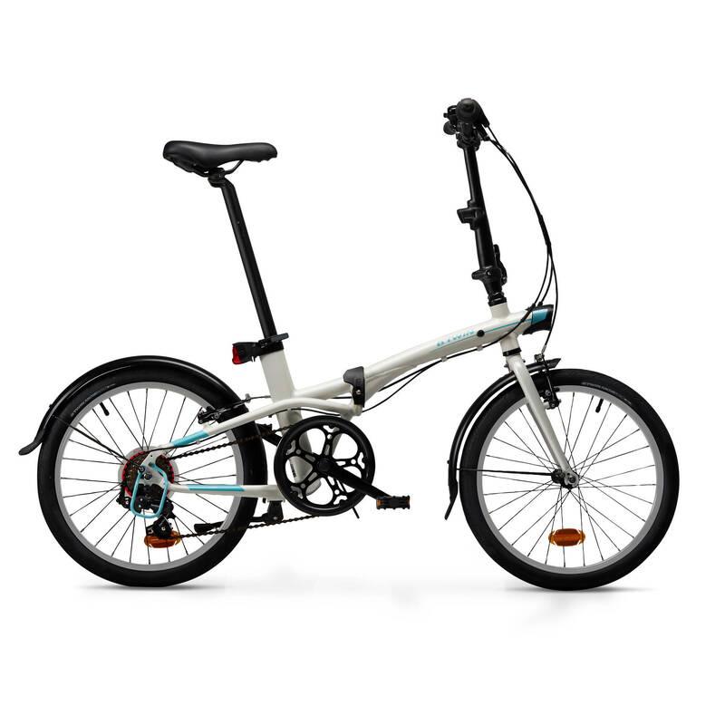 SKLÁDACÍ KOLA Cyklistika - SKLÁDACÍ KOLO TILT 500 BÍLÉ BTWIN - Jízdní kola