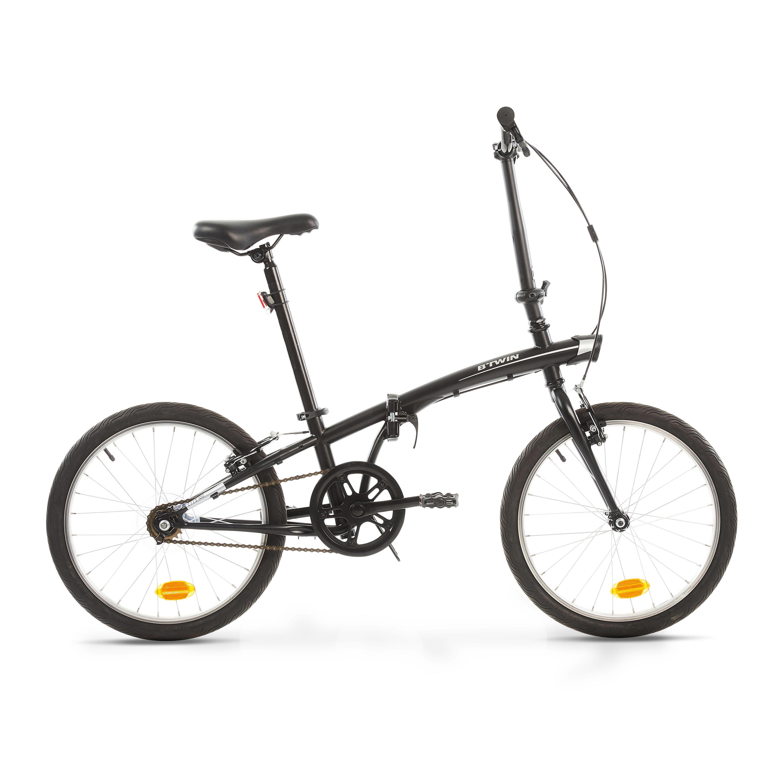 Bicicleta Plegable Tilt 100 1v Negro Btwin Decathlon