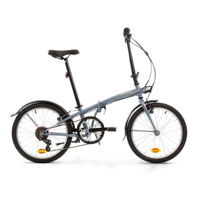 COMPACT / FOLDING BIKE Cycling - Tilt 120 Folding Bike - Grey BTWIN - Bikes