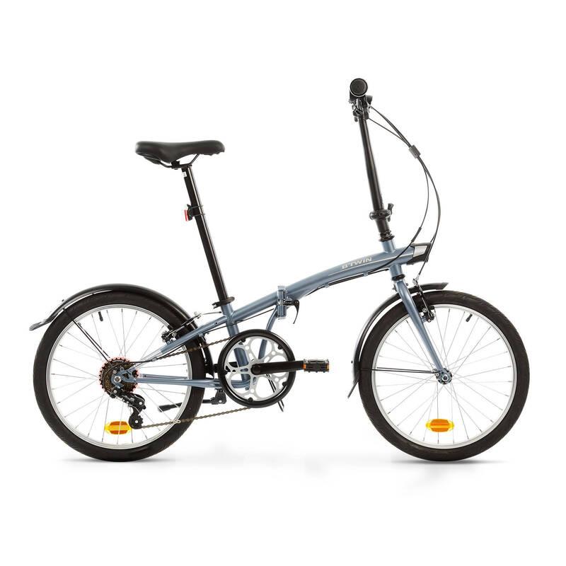 SKLÁDACÍ KOLA Cyklistika - SKLÁDACÍ KOLO TILT 120 ŠEDÉ BTWIN - Jízdní kola