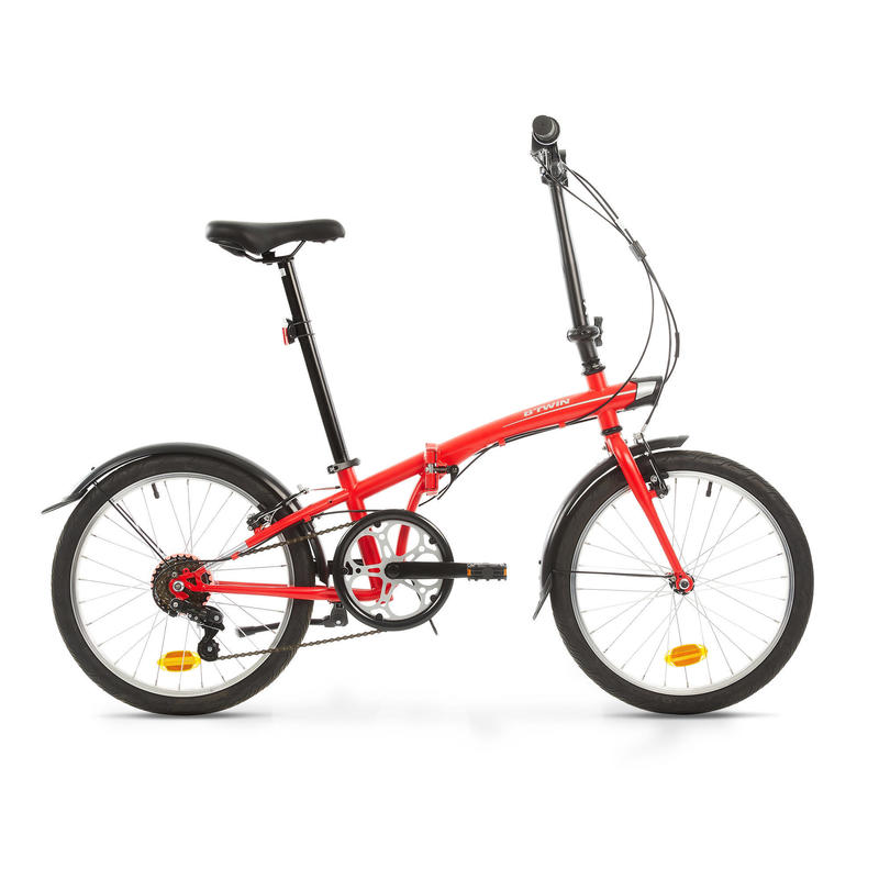 Folding Bike Oxylane 120 - Red