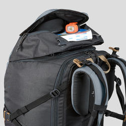 Trekking Travel Backpack 60 Litres | TRAVEL 100 Blue