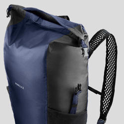 登山旅行輕巧防水背包TRAVEL 100 20 L-軍藍色