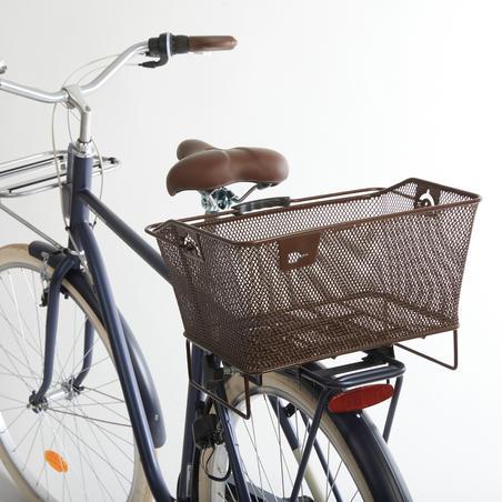 Rear Bike Pannier 500 - Brown
