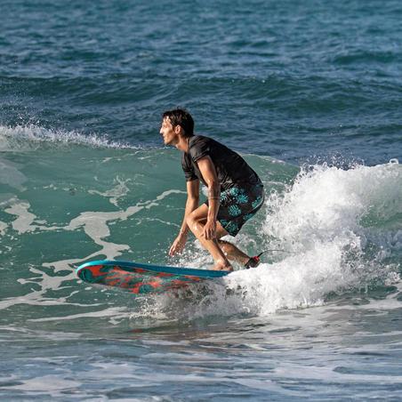 """Traje de Baño Hombre Corto Surf Olaian 100 Palm Mint 16"""""""
