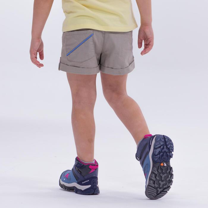 Short de randonnée - MH500 KID beige - enfant 2-6 ANS