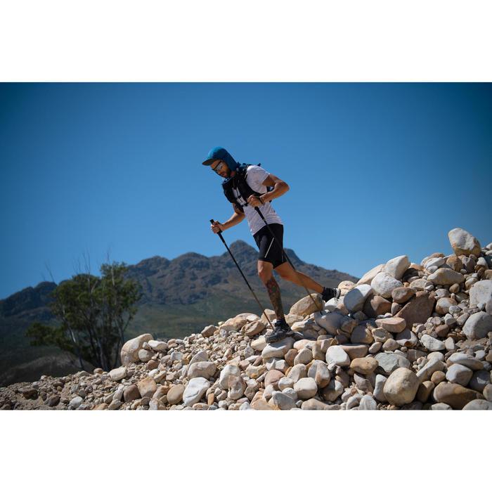 CASQUETTE TRAIL RUNNING MODULABLE SAHARIENNE BLEU