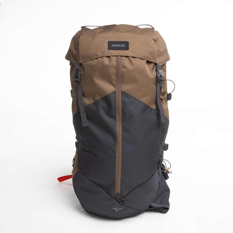 BACKPACKS 50L TO 90L MOUNTAIN TREK Trekking - M Backpack Trek 100 70L -Beige FORCLAZ - Trekking