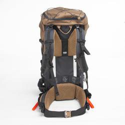 Men's Mountain Trekking Backpack Trek 100 70L - beige