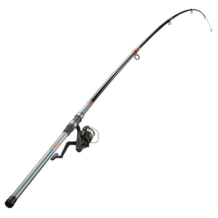 Ensemble de pêche en surfcasting canne et moulinet SYMBIOS LIGHT-100 390