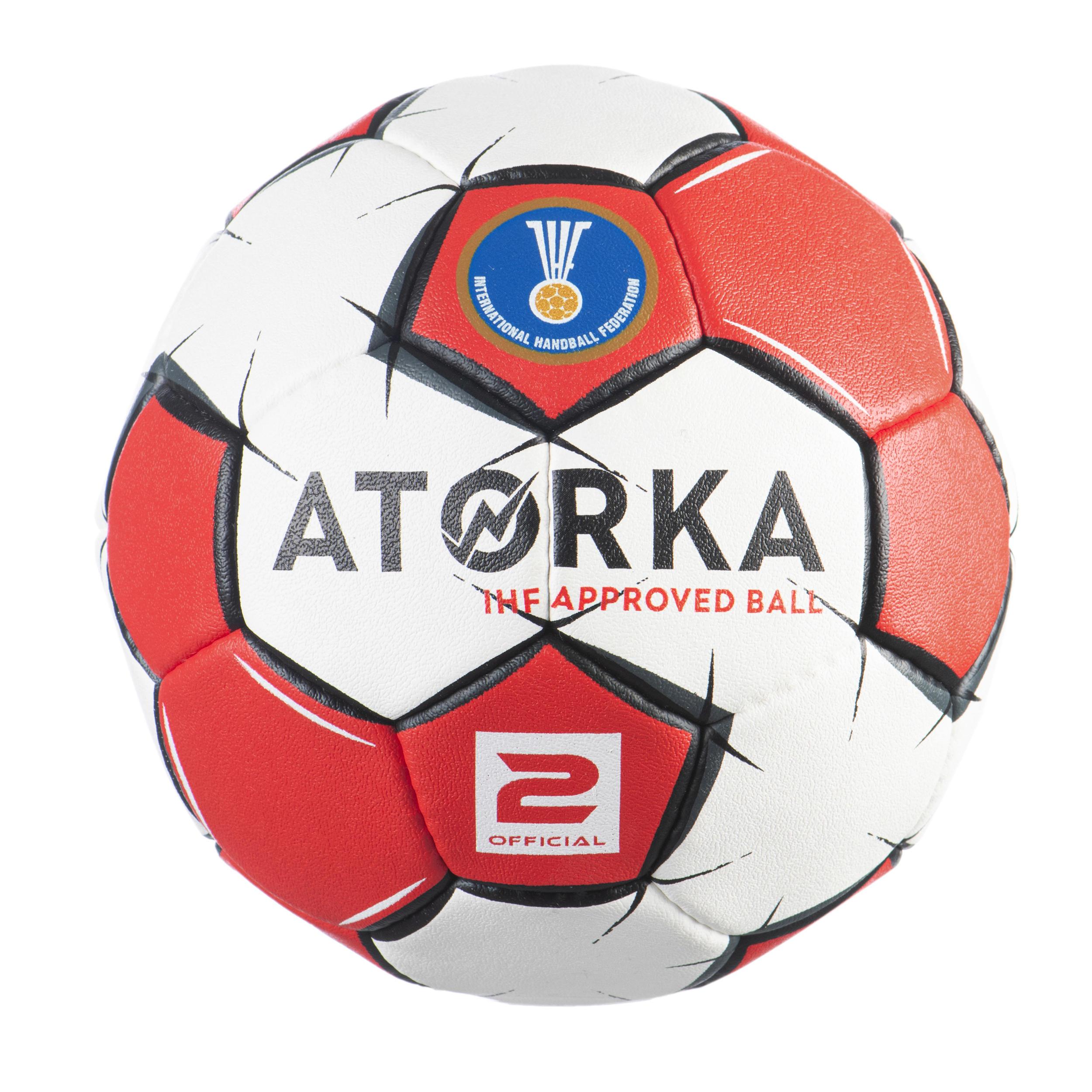 Handball H900 Größe 2 rot/weiß IHF zertifiziert