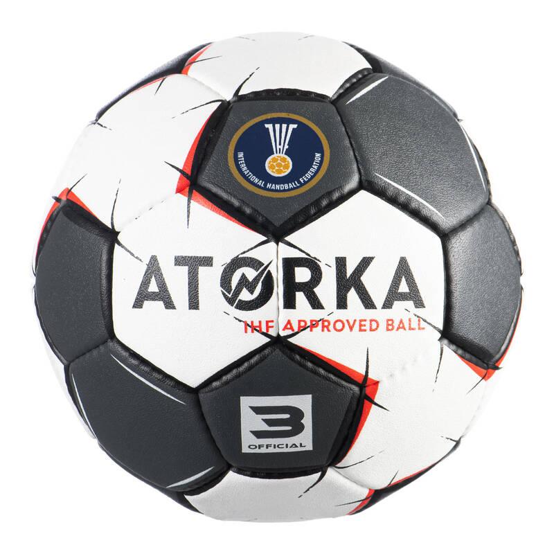 HÁZENÁ Házená - MÍČ H900 VEL. 3 ŠEDO-BÍLÝ  ATORKA - Házenkářské míče