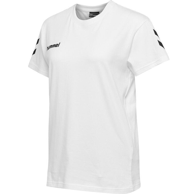 Maillot de handball coton MC femme blanc