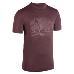 T-SHIRT / MAILLOT DE BASKETBALL HOMME TS500 BORDEAUX PLAYGROUND