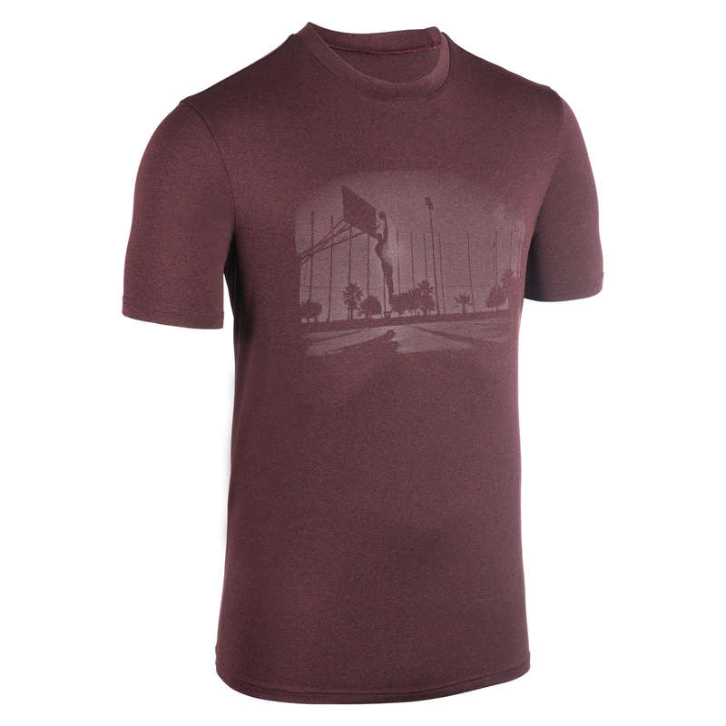 MAN BASKETBALL OUTFIT Basketball - T-Shirt TS500 Burgundy TARMAK - Basketball Clothes