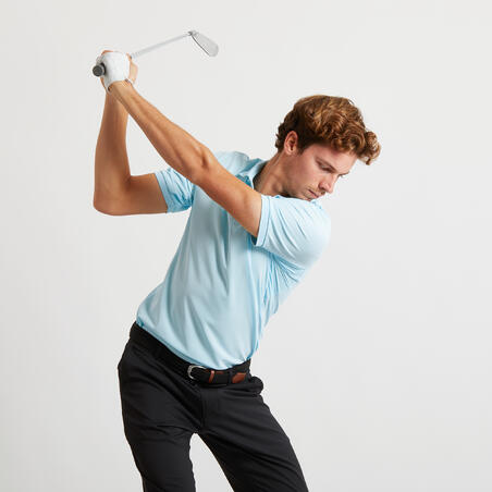 Men's Golf Light Polo Shirt - Light Blue
