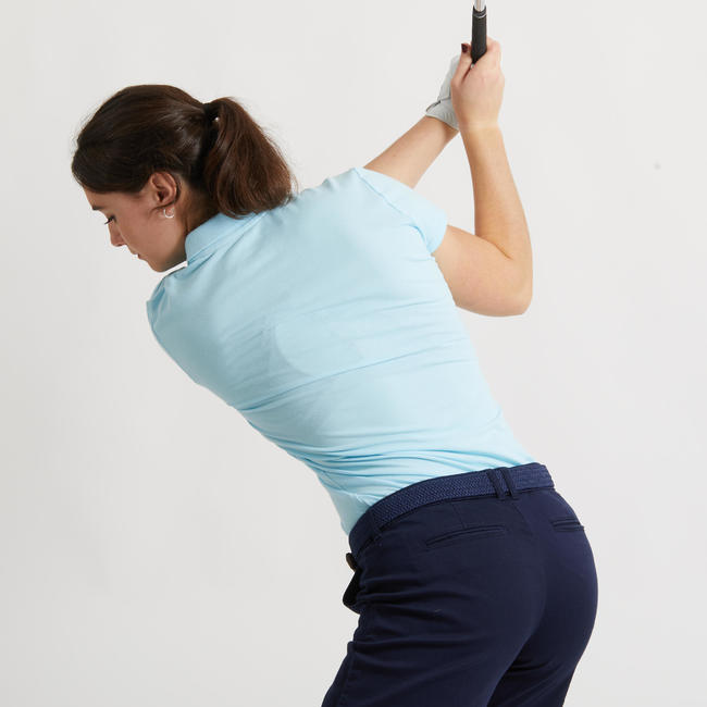 Women's Golf Polo Shirt - Sky Blue