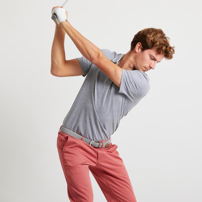 男款溫和氣候短袖高爾夫球POLO衫-刷色灰