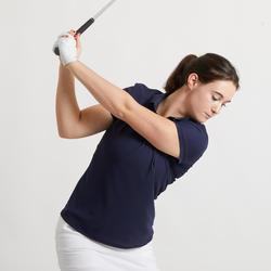 女款高爾夫POLO衫-軍藍色