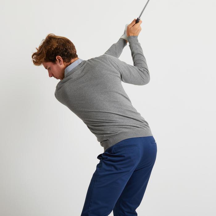 Golftrui met V-hals voor heren grijs