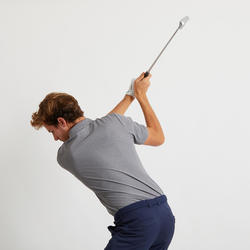 男款溫暖天候高爾夫POLO衫-刷色灰