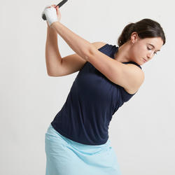 POLO DE GOLF SANS MANCHES ULTRALIGHT FEMME BLEU MARINE