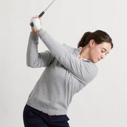 Winddichte golftrui voor dames zacht weer grijs