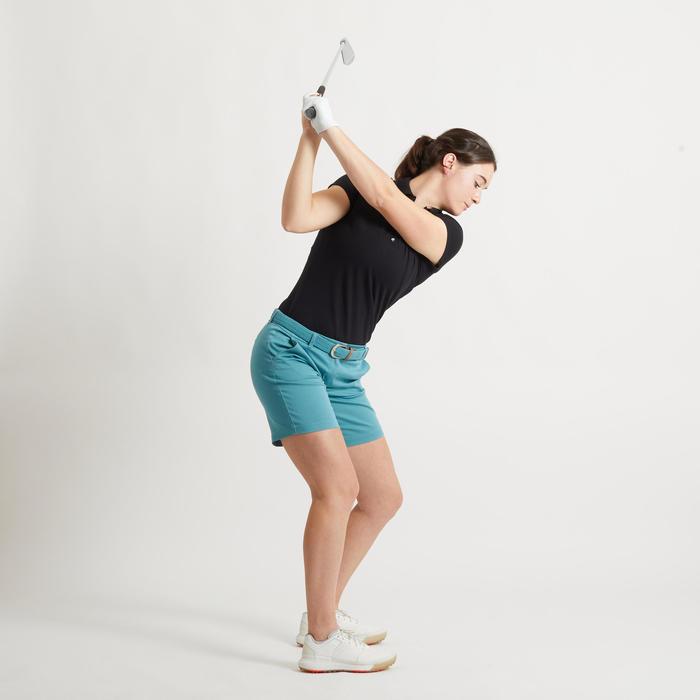 Polo de golf manches courtes femme MW500 noir