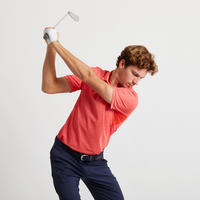 Men's Golf Light Polo Shirt - Coral Red