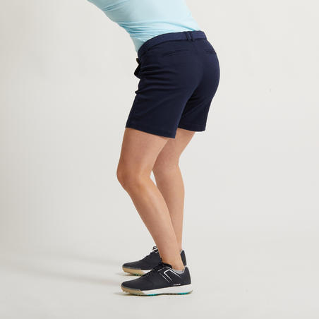 WOMEN'S GOLF BERMUDA SHORTS - NAVY BLUE