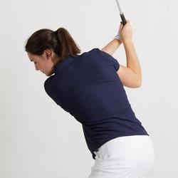 Women's Golf Breathable Polo Shirt - Navy Blue