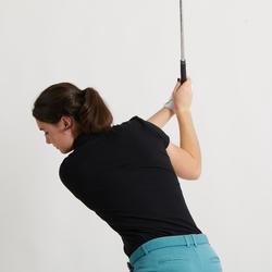 Golfpolo voor dames zwart